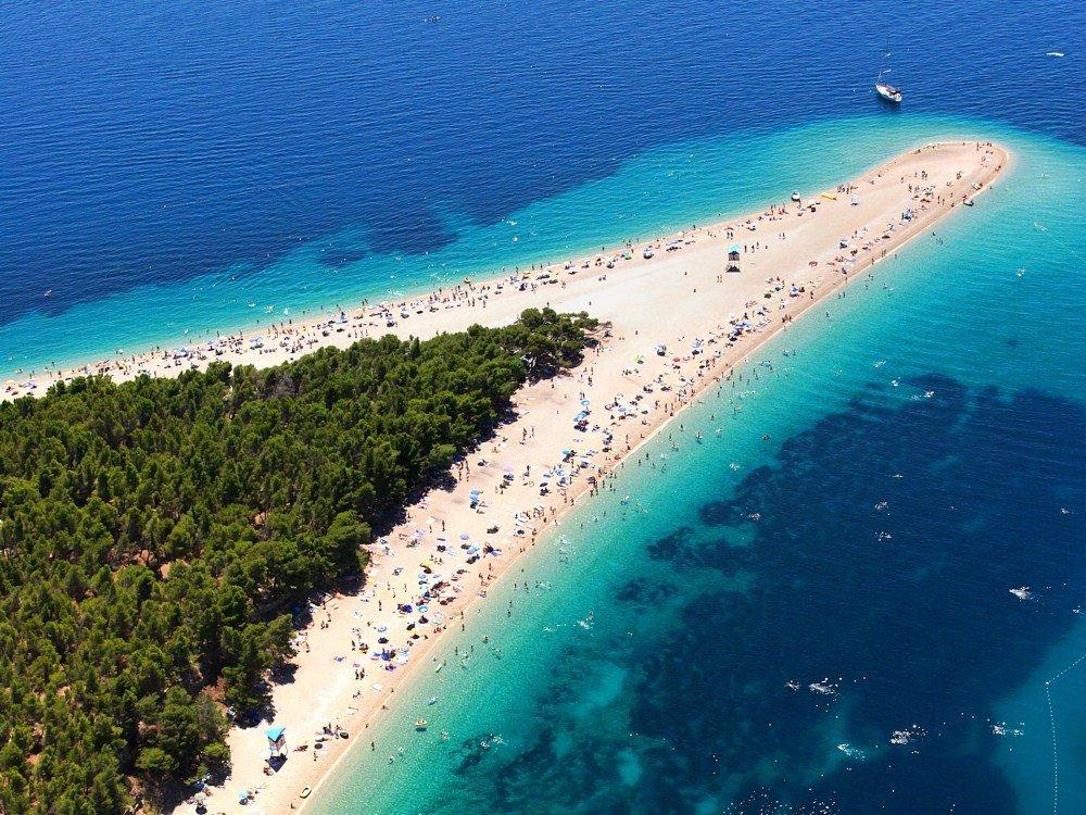 Пляж Золотой Рог в Хорватии