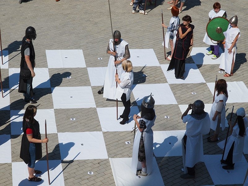 Человеческие шахматы по-вьетнамски