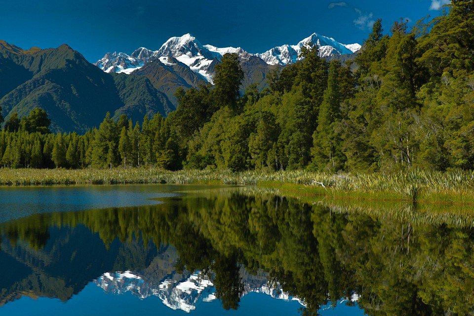 Озеро Мэтисон в Новой Зеландии