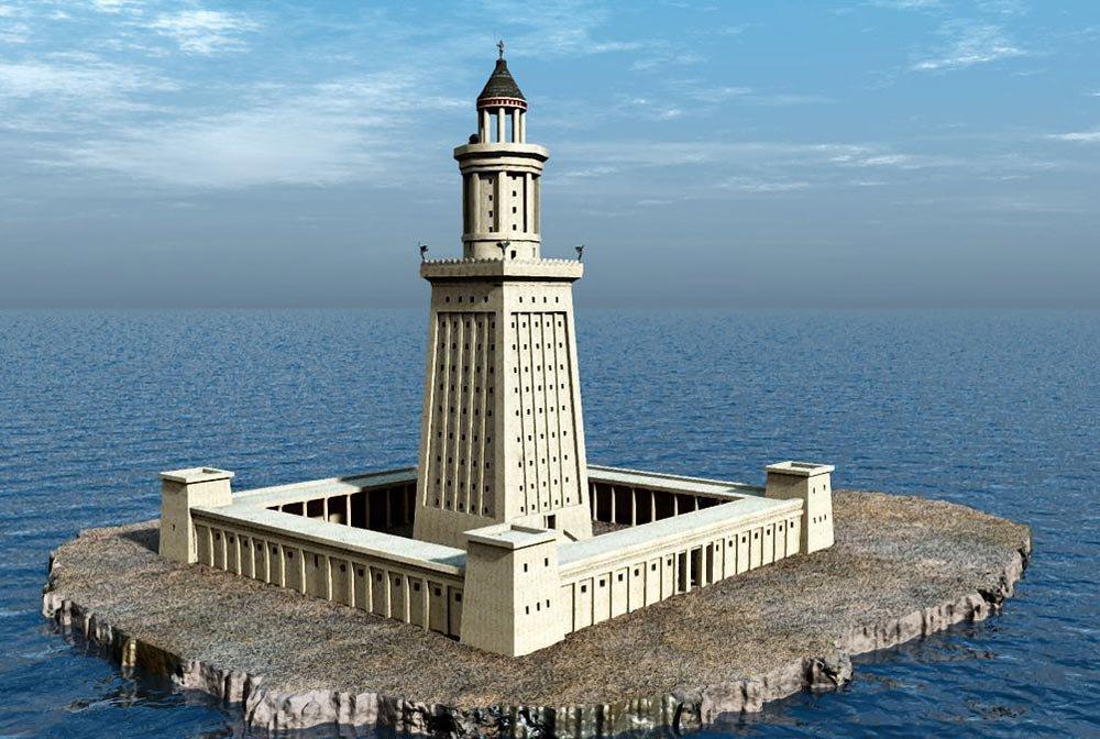 Александрийский маяк - высочайшая конструкция своего времени