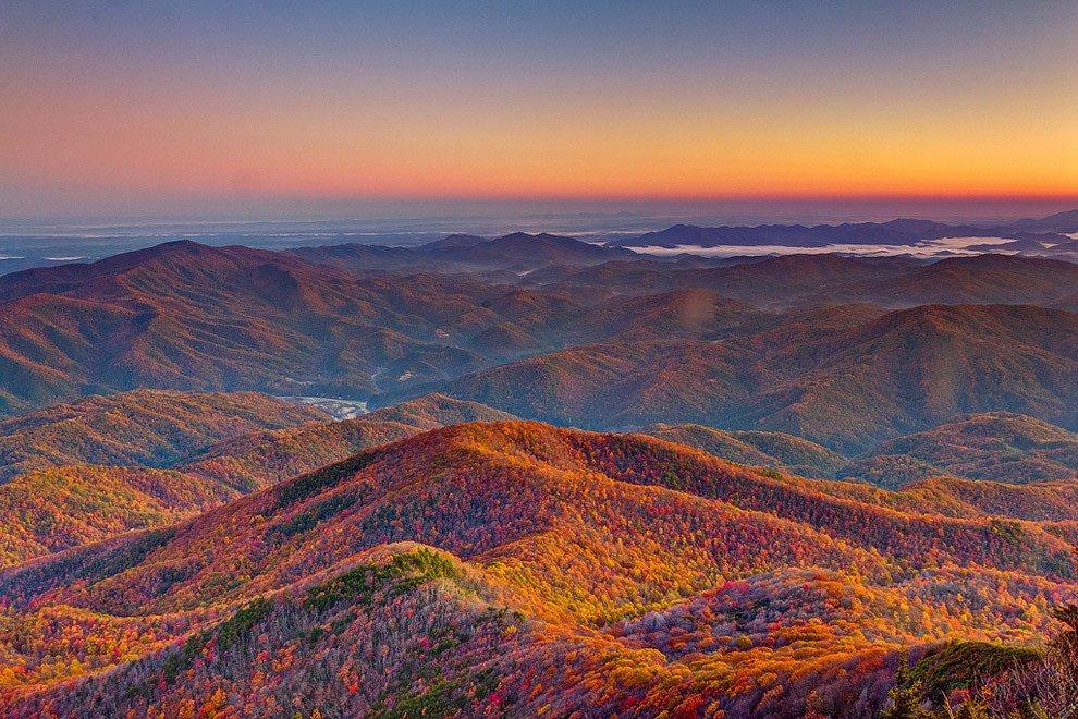 Национальный парк Грейт-Смоки-Маунтинс в США